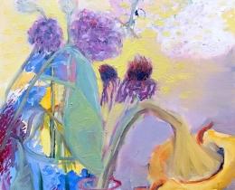 September Sun 60 x 60 cm oil on canvas