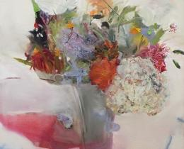 A Bucketful of Summer II 61 x 61 cm oil on canvas SOLD