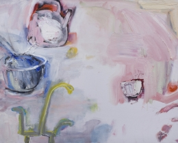 Kitchen Cabinet I 75 x 100 cm oil on canvas