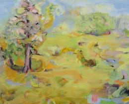 A Wealden Spring, 79 x 104cm oil on canvas, framed