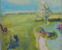 Window Study 1, 80 x 60cm, acrylic on paper