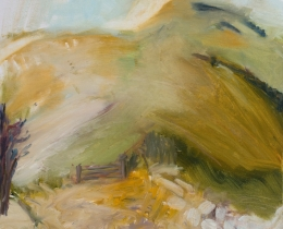 The South Downs Way, 54 x 54cm oil on canvas, framed