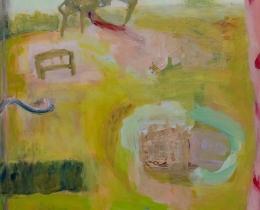 Window Study 2, 80 x 60cm acrylic on paper