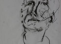 Head Study 2, 80 x 60 charcoal on paper