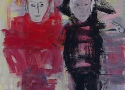 Mr and Mrs R, 100 x 80cm, acrylic on canvas